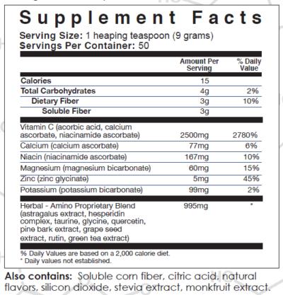 C-Viral Supplement Facts