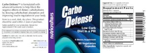 Carbo Defense Label