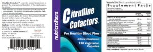Citrulline Cofactors Label