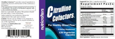 Citrulline Cofactors Label