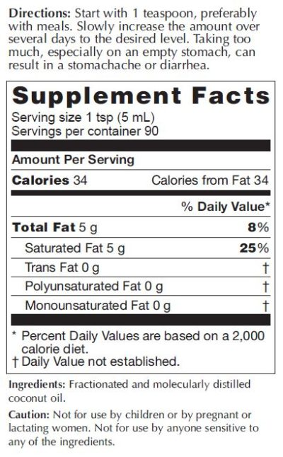 Coconut MCT Supplement Facts