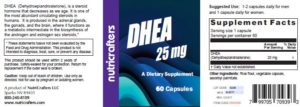 DHEA Product Label