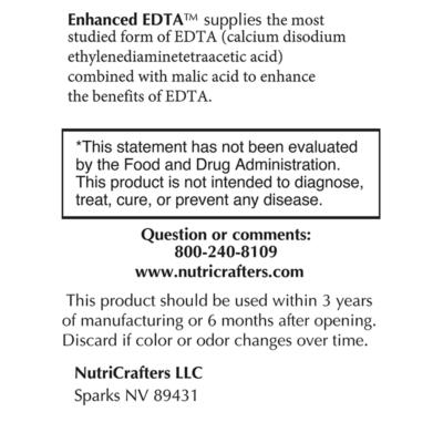 Enhanced EDTA Left Label Panel