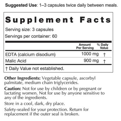 Enhanced EDTA Supplement Facts