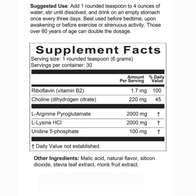 GH Advantage Drink Mix Supplement Facts