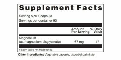 Magnesium Bisglycinate Supplement Facts