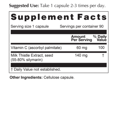 Milk Thistle Extract Supplement Facts