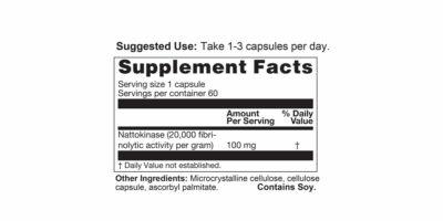 Nattokinase Supplement Facts