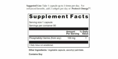 Phosphatidyl Serine Supplement facts