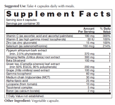 Prosta E8 Supplement Facts