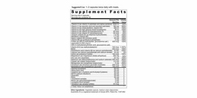 Protect Multi Supplement Facts