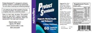 Protect Serotonin Label