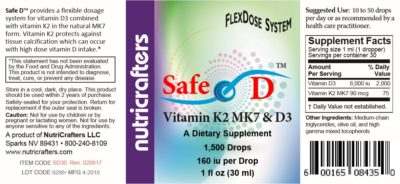 Safe D Label