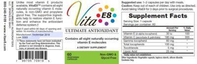 VitaE8 Label